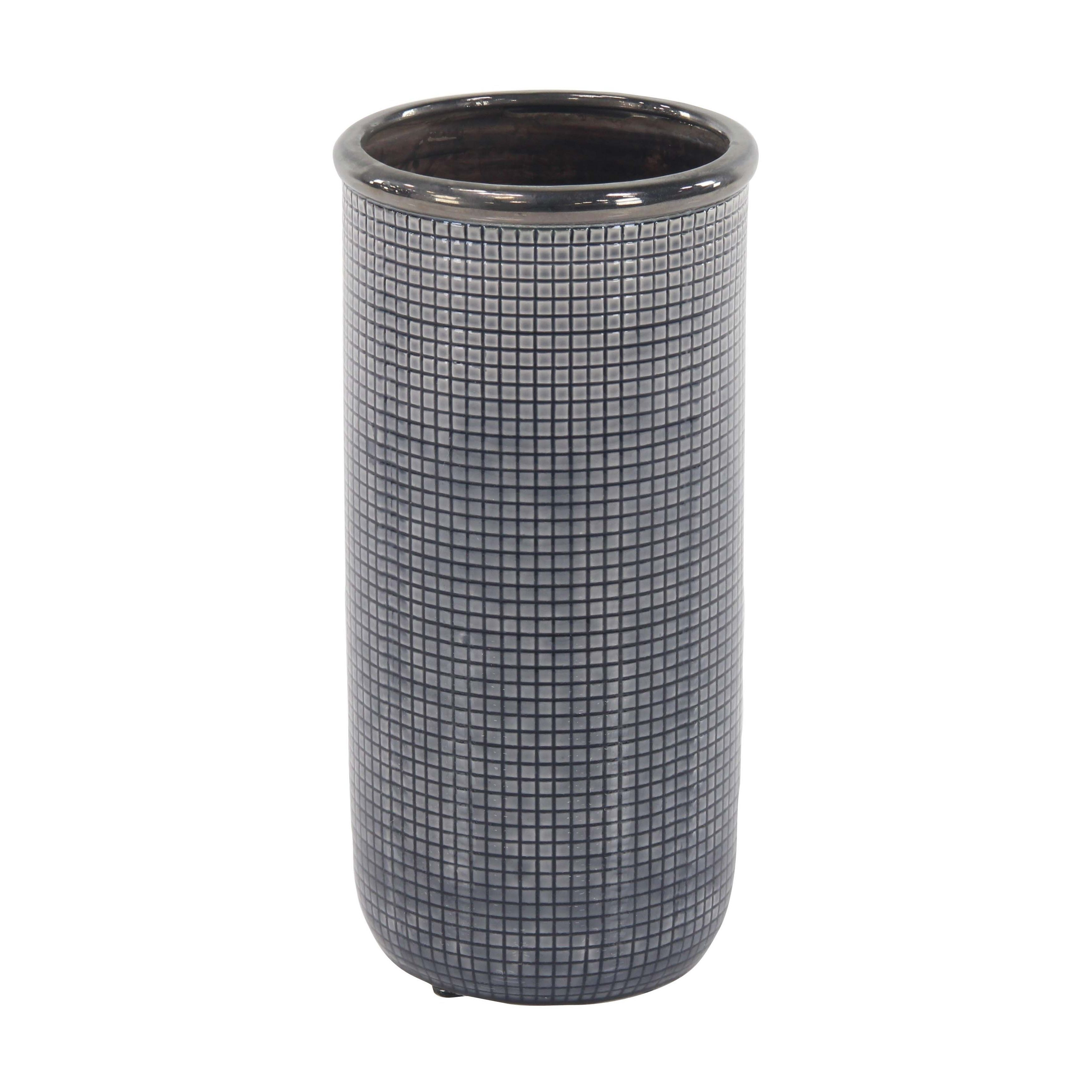 10.5 inch cylinder vases of kassatex mesh toothbrush holder intended for studio 350 16 inch contemporary ceramic blue and black mesh inspired vase size large