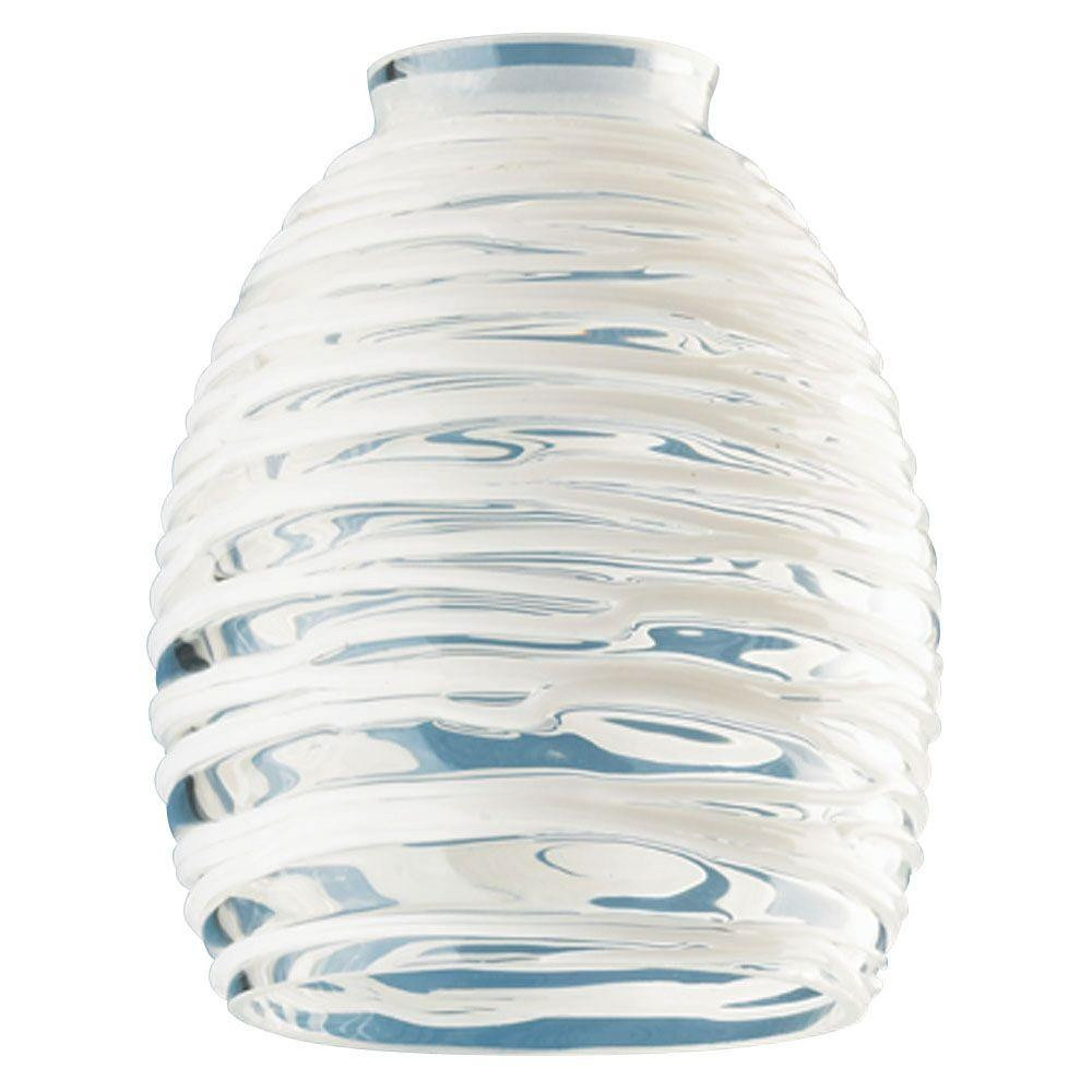 10 cylinder vases wholesale of westinghouse 8 1 2 in handblown clear chimney with 2 5 8 in fitter regarding 5 3 4 in handblown clear with white rope shade with 2