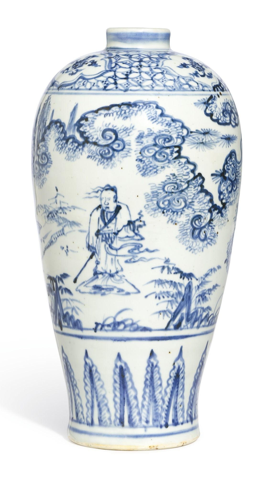 17th century chinese vase of a blue and white figure meipingming dynasty 15th century regarding a blue and white figure meipingming dynasty 15th century lot sothebys
