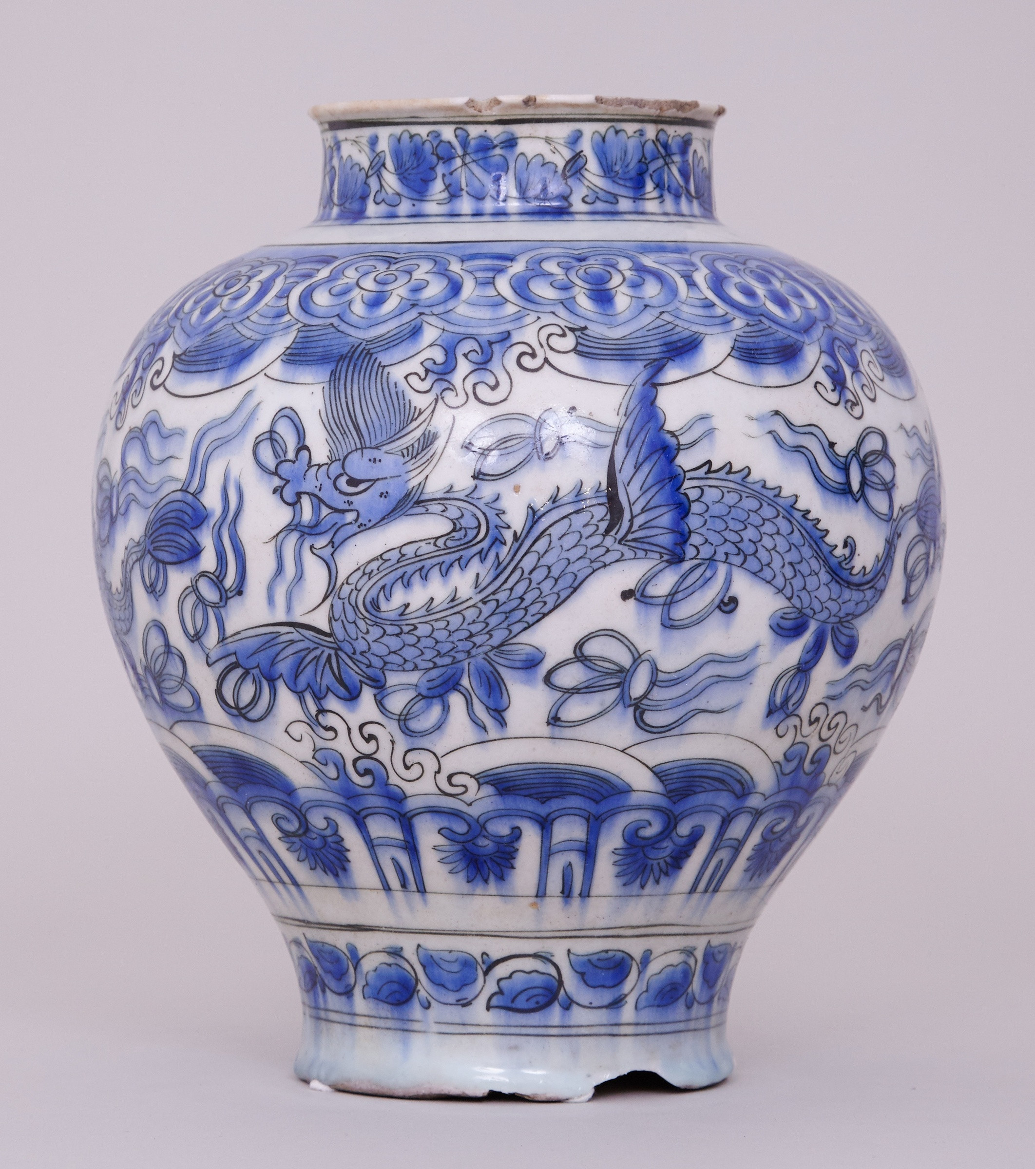 17th Century Chinese Vase Of A Blue and White Persian Safavid Jar 17th Century Anita Gray within A Blue and White Persian Safavid Jar