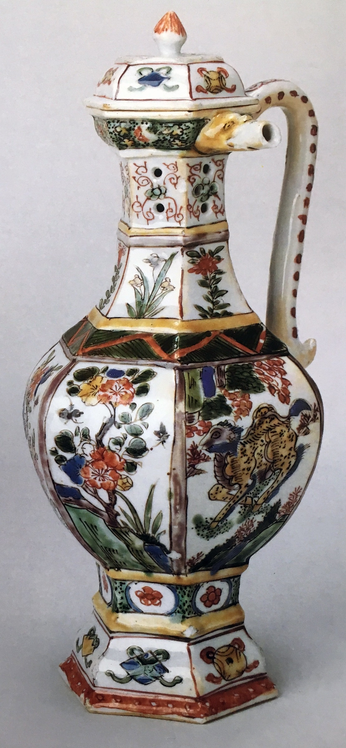 17th century chinese vase of a rare famille verte puzzle jug and cover kangxi 1662 1722 pertaining to chinese export porcelain