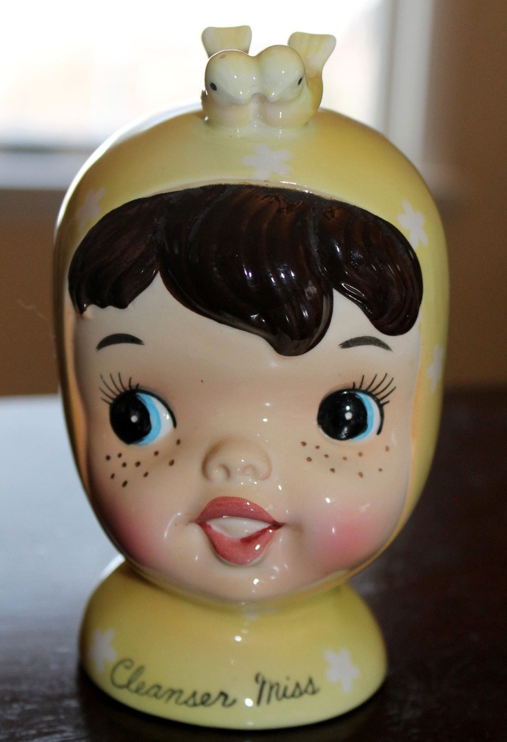 1958 napco lady head vase of 149 best vintage images on pinterest antique with regard to vintage napco miss cutie pie cleanser miss