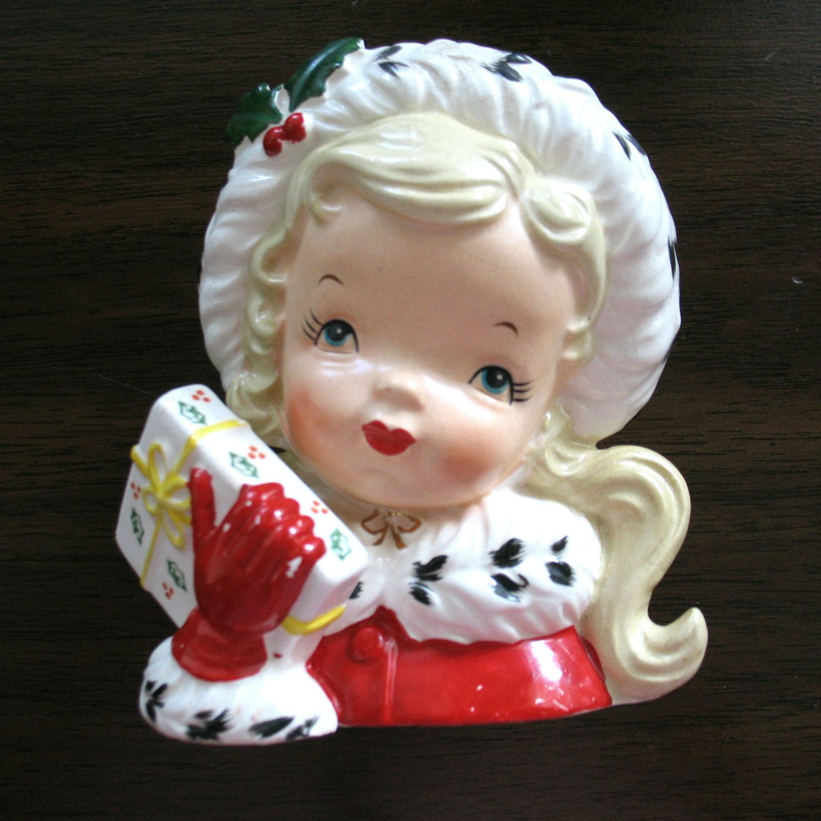 1958 napco lady head vase of 1956 napco christmas girl head vase headvase for 1956 napco christmas girl head vase