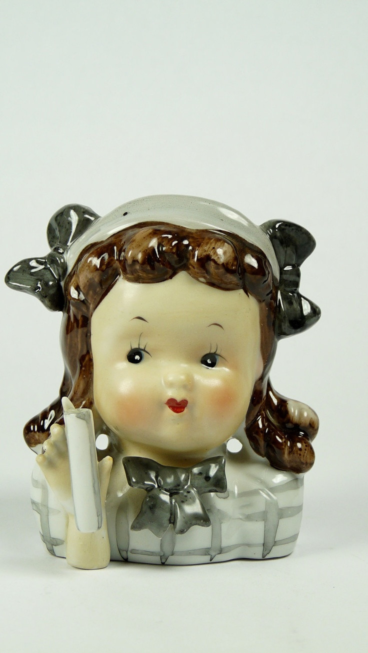 1958 napco lady head vase of 890 best vintage images on pinterest vintage kitchen kitchens and in mid century little girl head vase japan