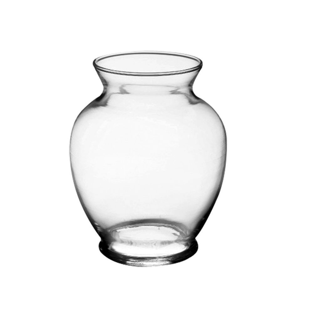 2 gallon vase of glass vase 5 clear round neck candy fruit arrangements bows ribbons with glass vase