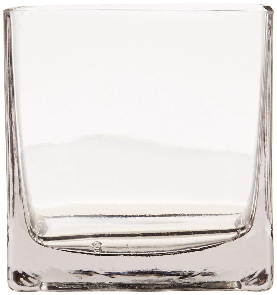20 inch clear glass vase of amazon com 12piece 4 square crystal clear glass vase home kitchen in 61odrrfbtgl sl1164