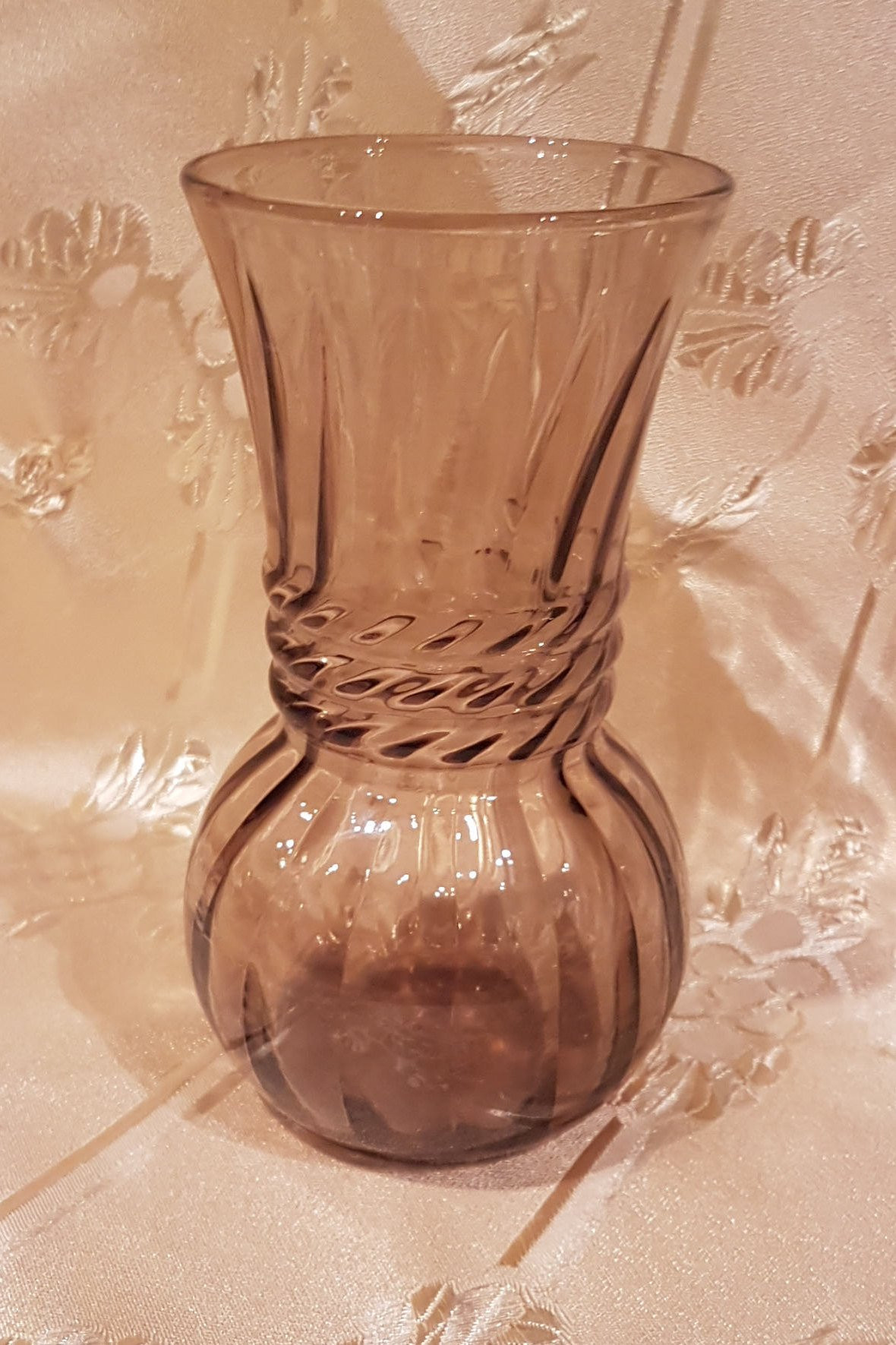 20 inch tall glass vases of anchor hocking vintage smoke brown optic swirl glass vase for il fullxfull 1478201037 65uu
