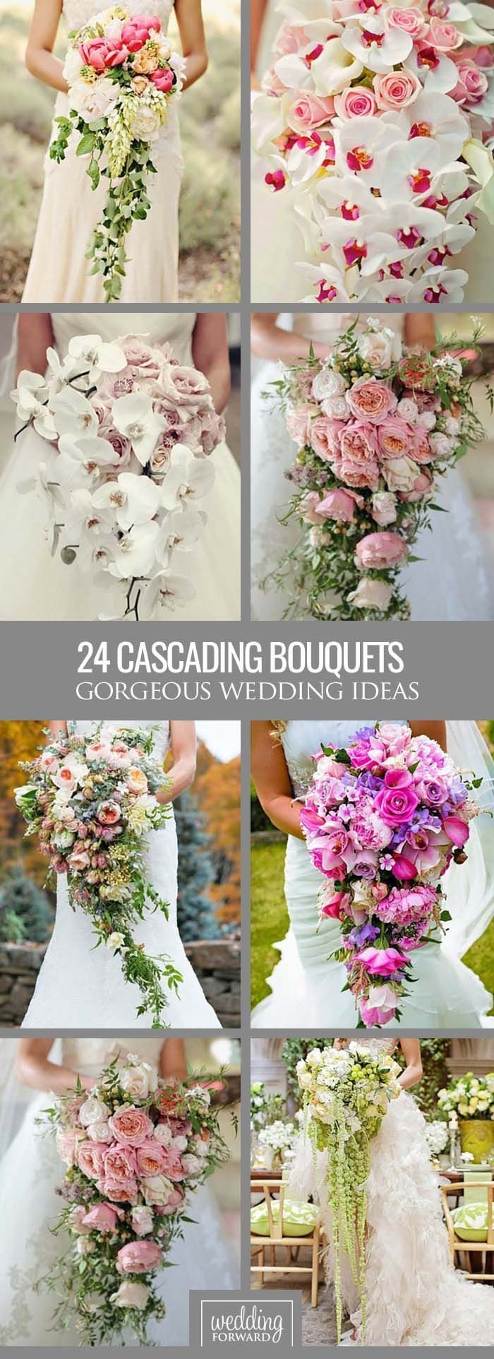 24 eiffel tower vases bulk of 166 best diamonds brides images on pinterest weddings perfect throughout 24 gorgeous cascading wedding bouquets a¤ modern cascading or pageant bouquets are different from traditional round bouquets and look stunning with