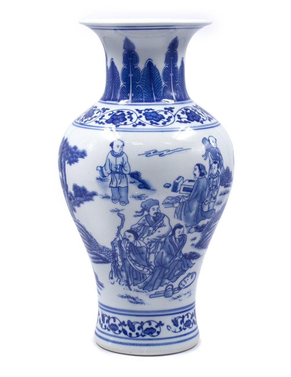24 inch square vase of dahlia friends enjoying nature blue and white porcelain flower vase in dahlia friends enjoying nature blue and white porcelain flower vase 13 inches fish tail vase to view further for this item visit the image link