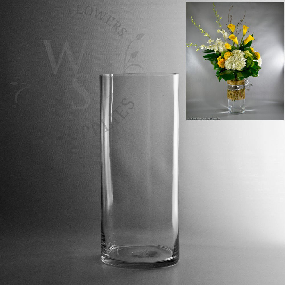 24 Inch Square Vase Of Glass Cylinder Vases wholesale Flowers Supplies with 14 X 6 Glass Cylinder Vase