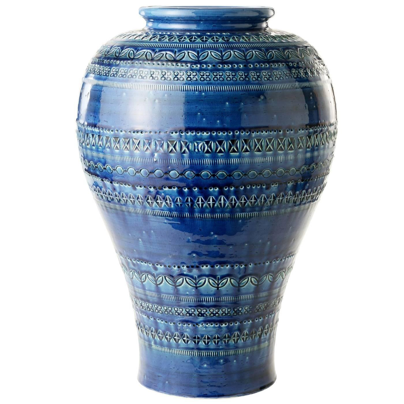 24 inch trumpet vase of blue vase by aldo londi for sale at 1stdibs pertaining to 6919443 z