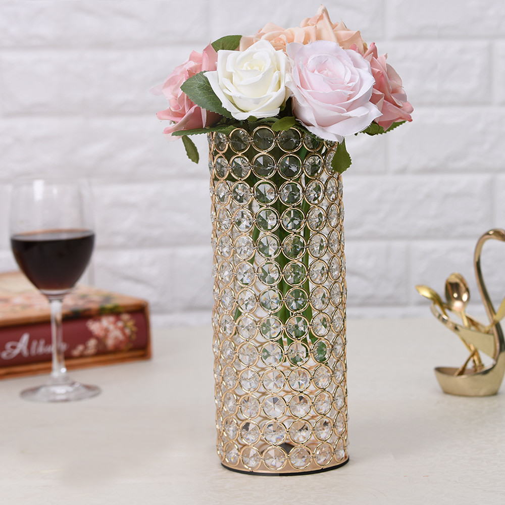 24 lead crystal vase value of 2018 vincigant crystal cylinder vases candle holders for home inside elegant unique designbeautifully fashioned in trendy lofty cylinder shape this bedazzling beaded crystal vase features rows and rows of glinting beaded