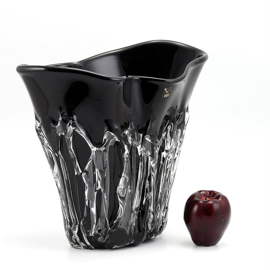 3 Feet Tall Vases Of Shop by Price 501 to 1000 Artistica Com Pertaining to Murano original Short Vase Black Clear Wavy Rim Smooth and Textured Surface