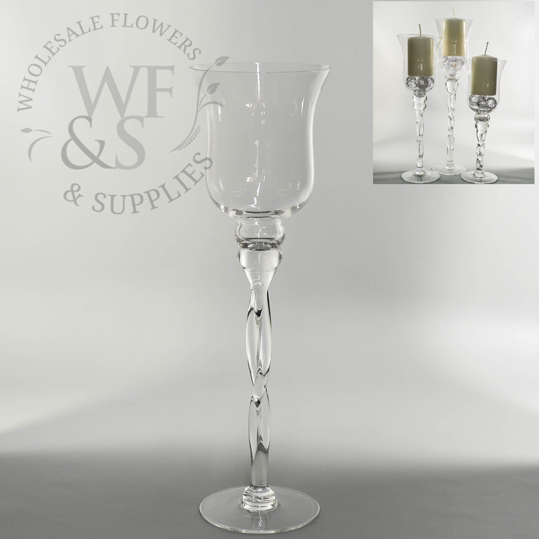 3 foot tall wine glass vases of twisted clear glass vase candle holder 15 7 holidays pinterest throughout twisted clear glass vase candle holder 15 7 wholesaleflowersandsupplies com