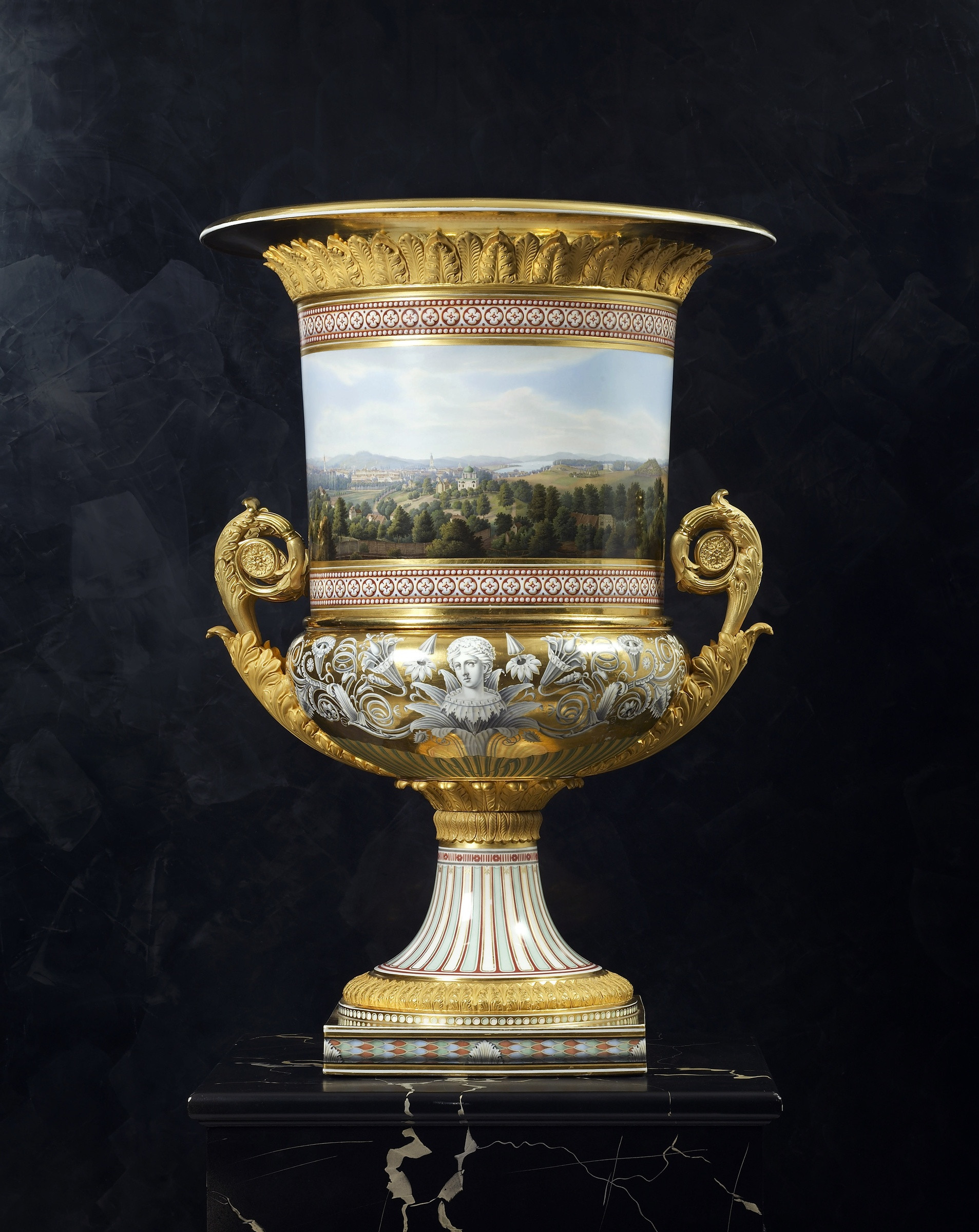 3 foot vase of k p m kac2b6nigliche porzellan manufaktur berlin a classical medici within a classical medici vase made by the royal berlin porcelain manufactory