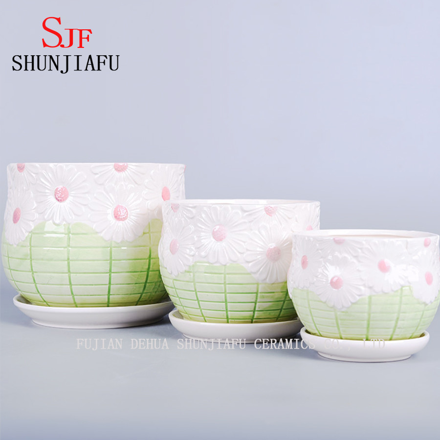 3 piece ceramic vase set of china ceramic vase the balcony flowerpot china flower planter inside china ceramic vase the balcony flowerpot china flower planter flowerpot