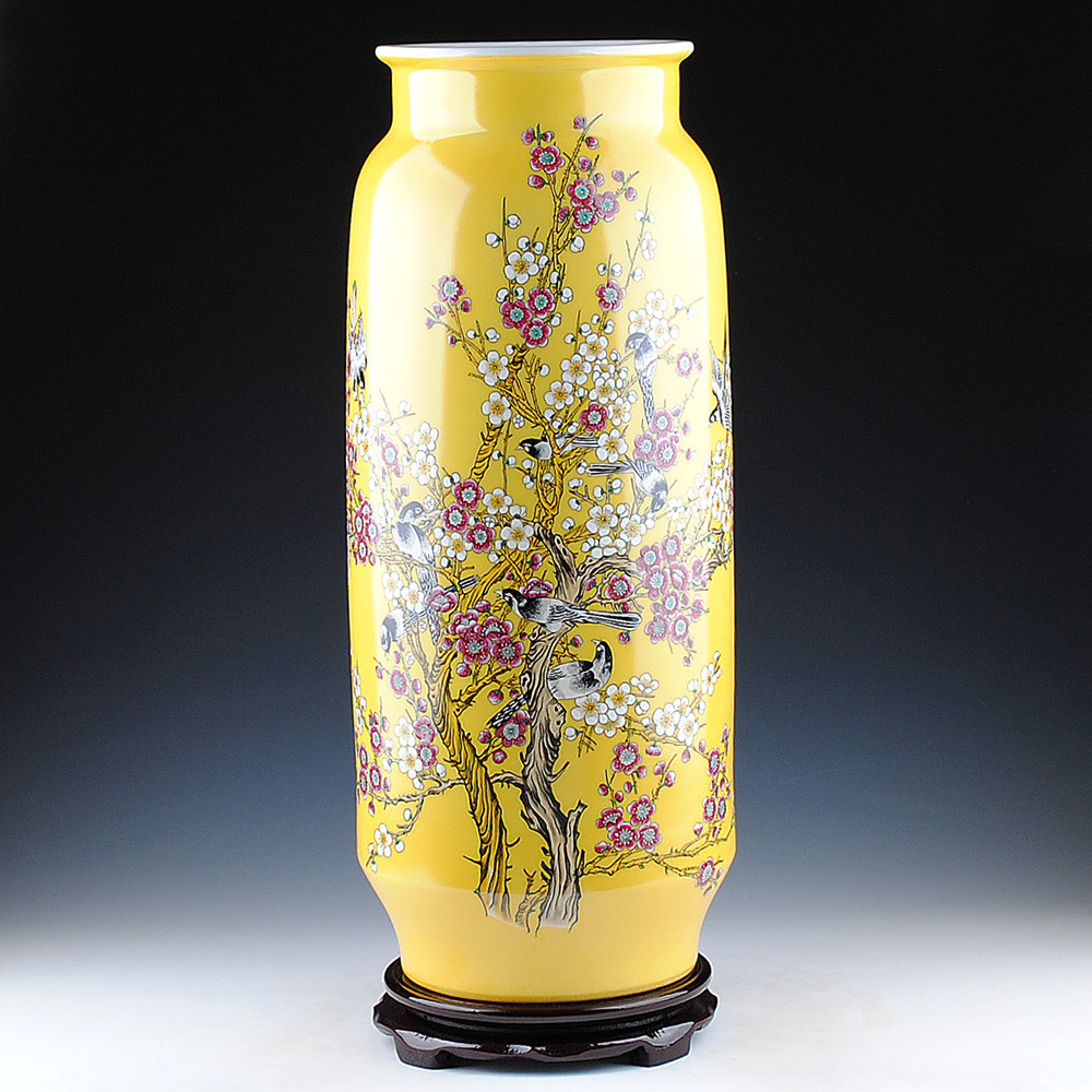 3 Piece Ceramic Vase Set Of China Yellow Vase Set China Yellow Vase Set Shopping Guide at with Regard to Get Quotations A· Jingdezhen Ceramics Pastel Yellow Beaming Quiver Vase Modern Living Room Furniture Crafts ornaments