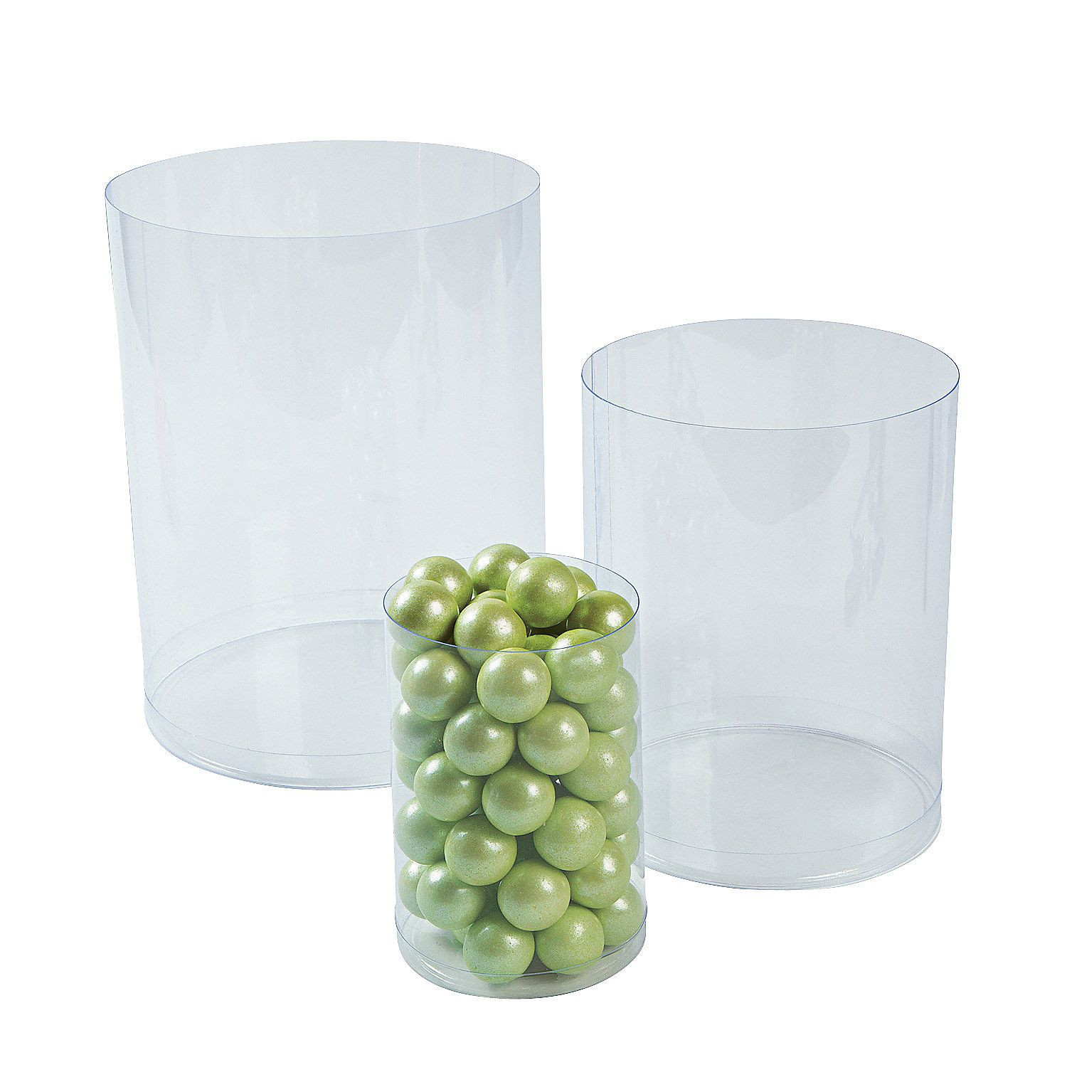 3 size cylinder vases of clear candy buffet cylinders pinterest birthdays sweet 16 and in clear candy cylinders orientaltrading com 6 total 3 different sizes for 10 can glue candle stands to these