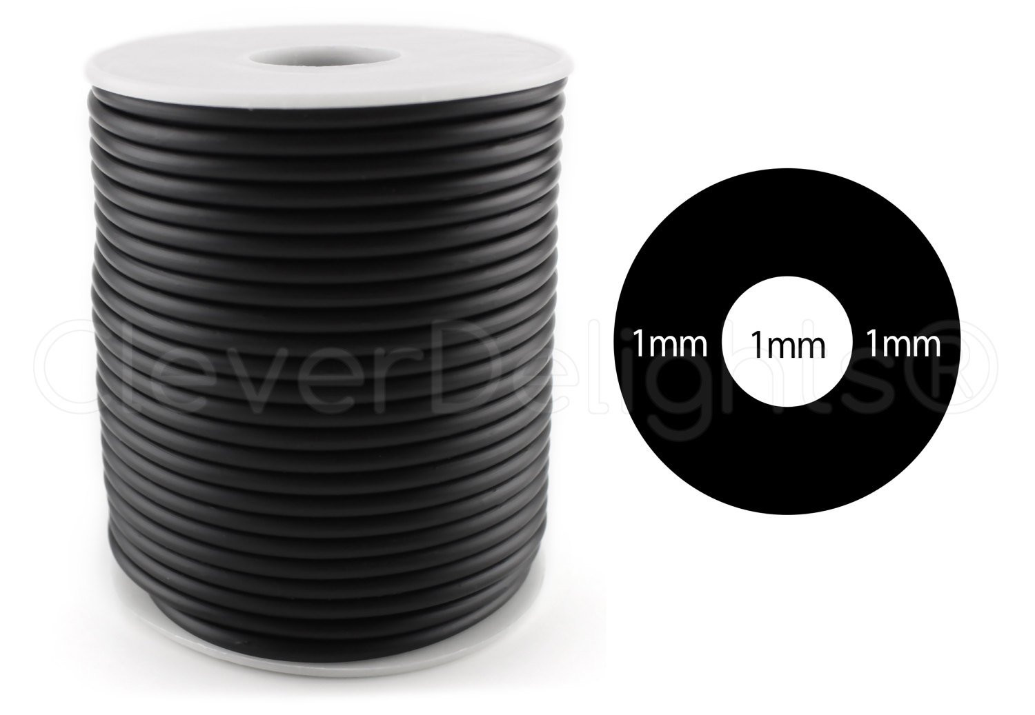 "32 inch cylinder vase of 10 ft black rubber cord 3mm 3 32 hollow rubber etsy in dŸ""Žzoom"