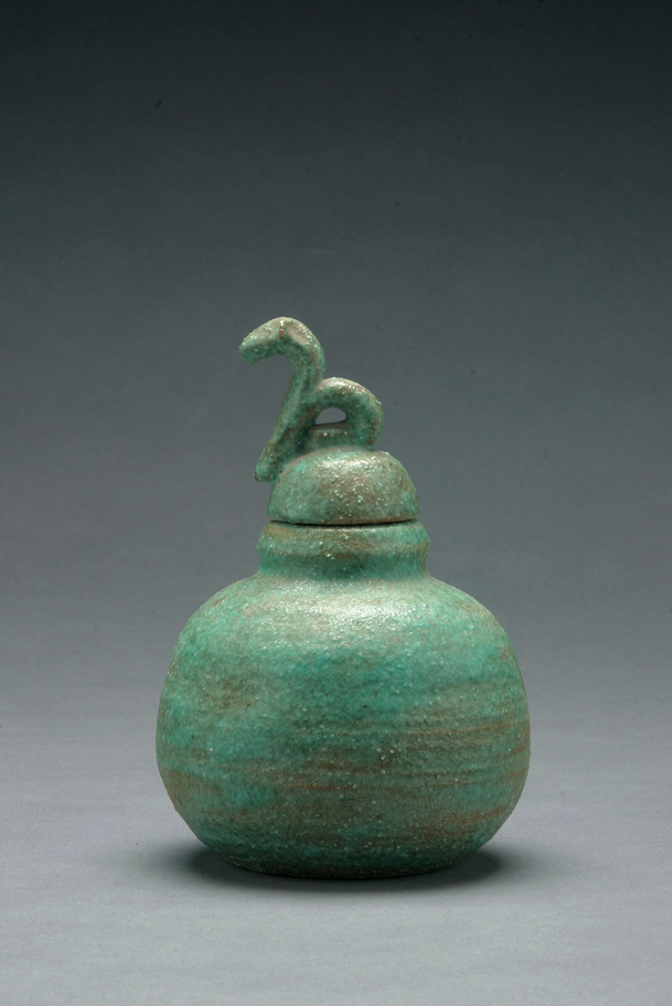 32 inch floor vase of david kordansky gallery pertaining to small green lidded jar 1951 stoneware 5 x 5 x 3 inches 12 7 x 12 7 x 7 6 cm