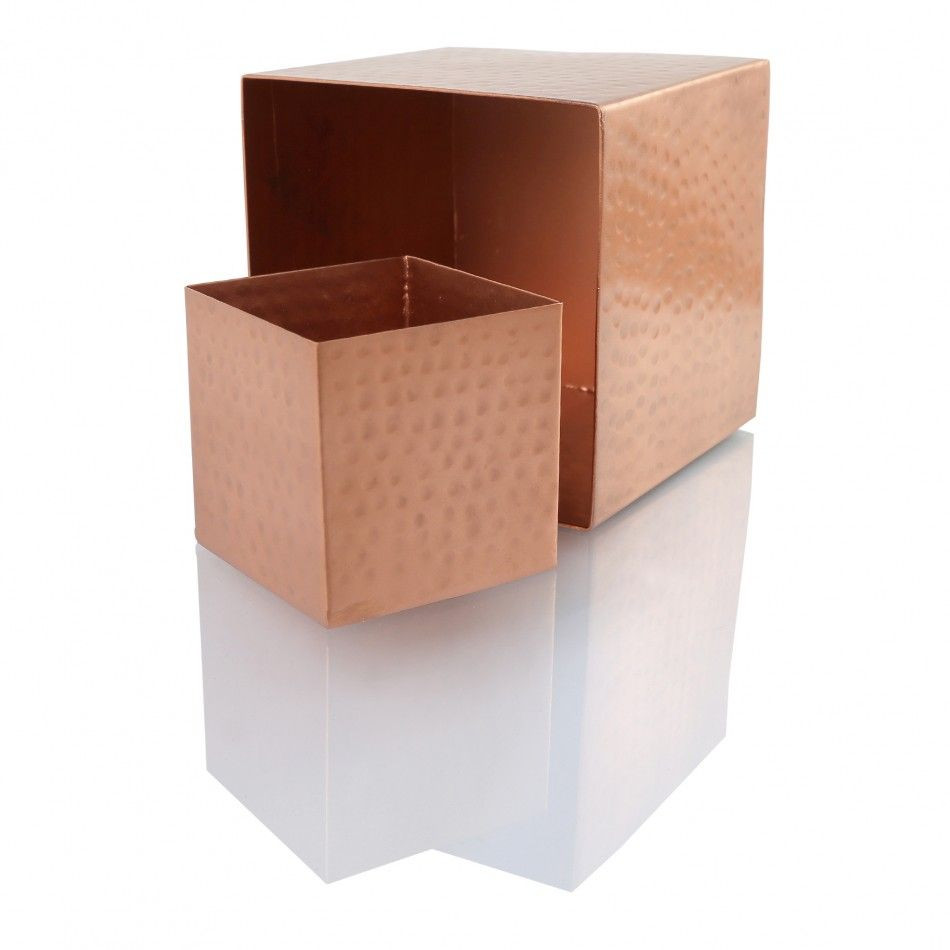 32 inch vases wholesale of 3 copper cube vase 6 pack 24901 wholesale wedding supplies for koyal wholesale hammered copper square vases centerpiece copper cube vases x