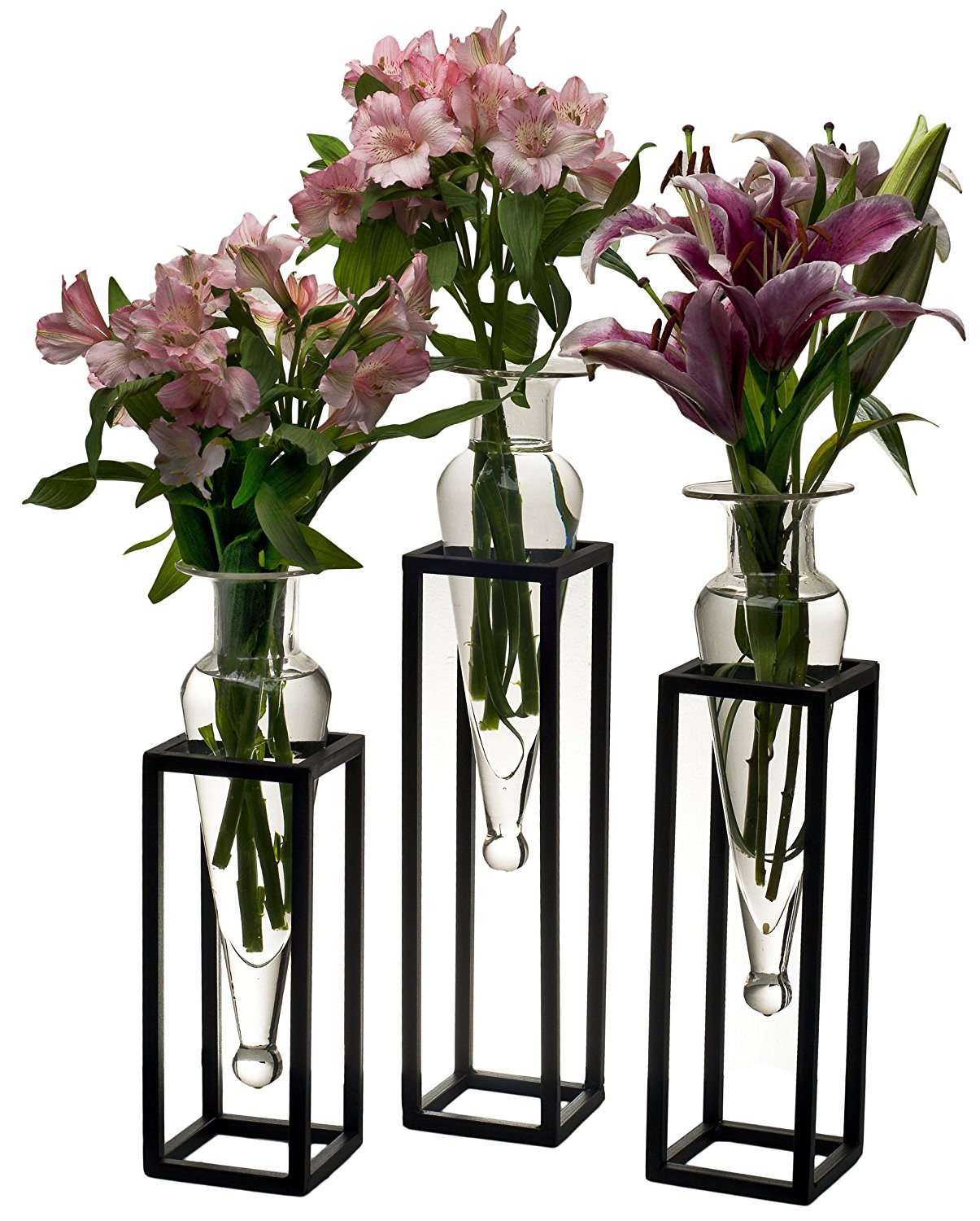 32 inch vases wholesale of cheap square metal tubing sizes find square metal tubing sizes inside get quotations a· set of 3 clear amphorae vases on square tubing metal stands