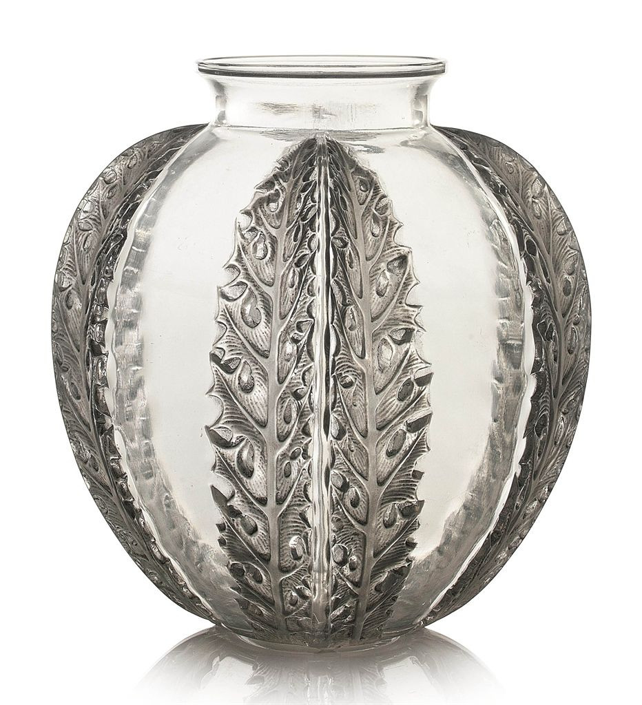 36 inch clear glass vase of chardons vase no 929 designed 1922 clear frosted and grey throughout chardons vase no 929 designed 1922 clear frosted and grey stained intaglio