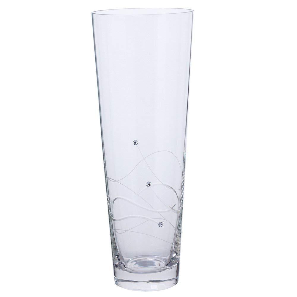 36 tall glass cylinder vases of dartington crystal romance glass medium vase weddinghomeparty regarding large dartington crystal tall conical glass vase weddinghomeparty vintage gift