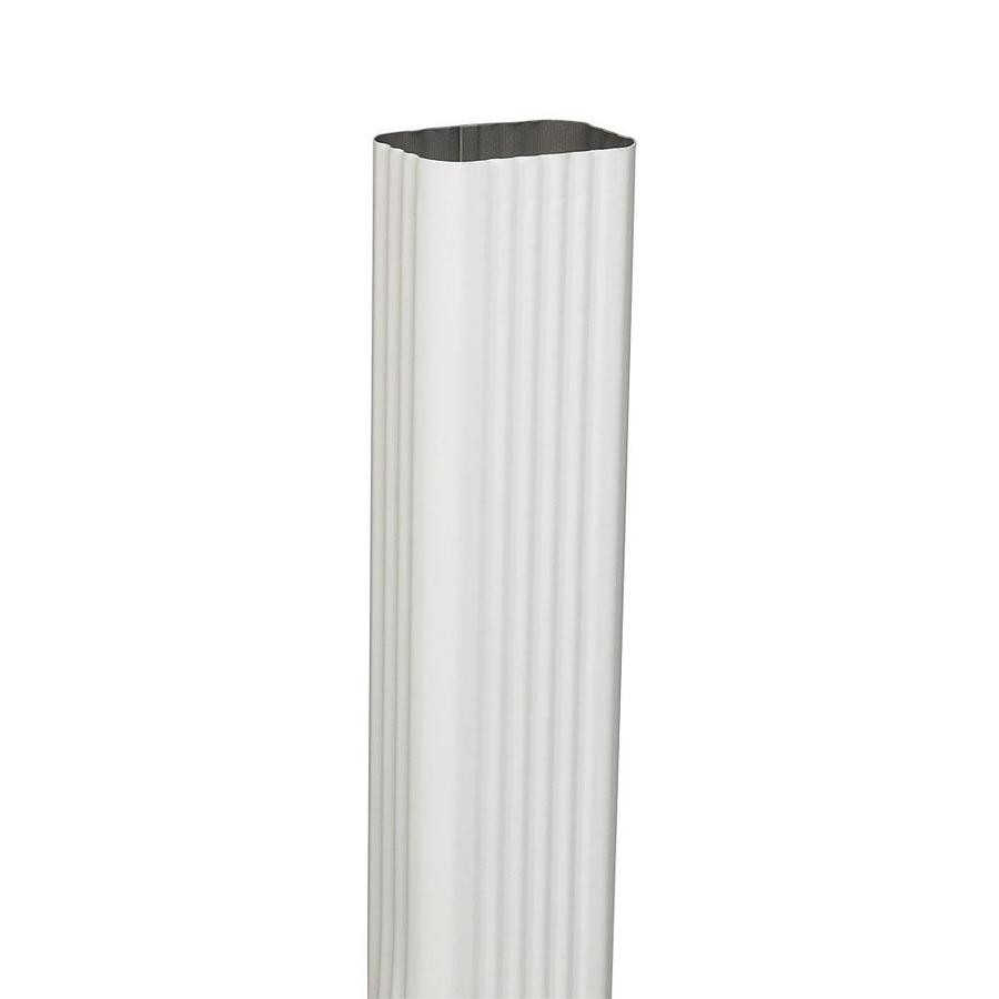 3x5 Cylinder Vase Of Shop Downspout Components at Lowes Com Pertaining to Amerimax 120 In White Galvanized Steel Downspout