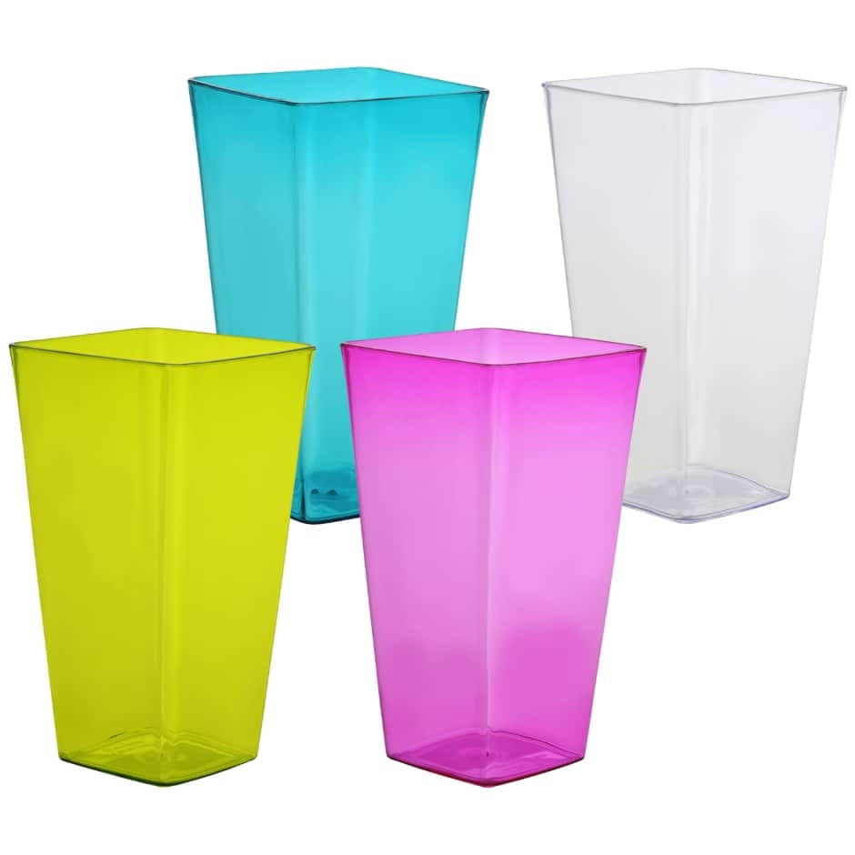 3x5 cylinder vase of teal dollar tree inc for colorful translucent square plastic vases 7 in