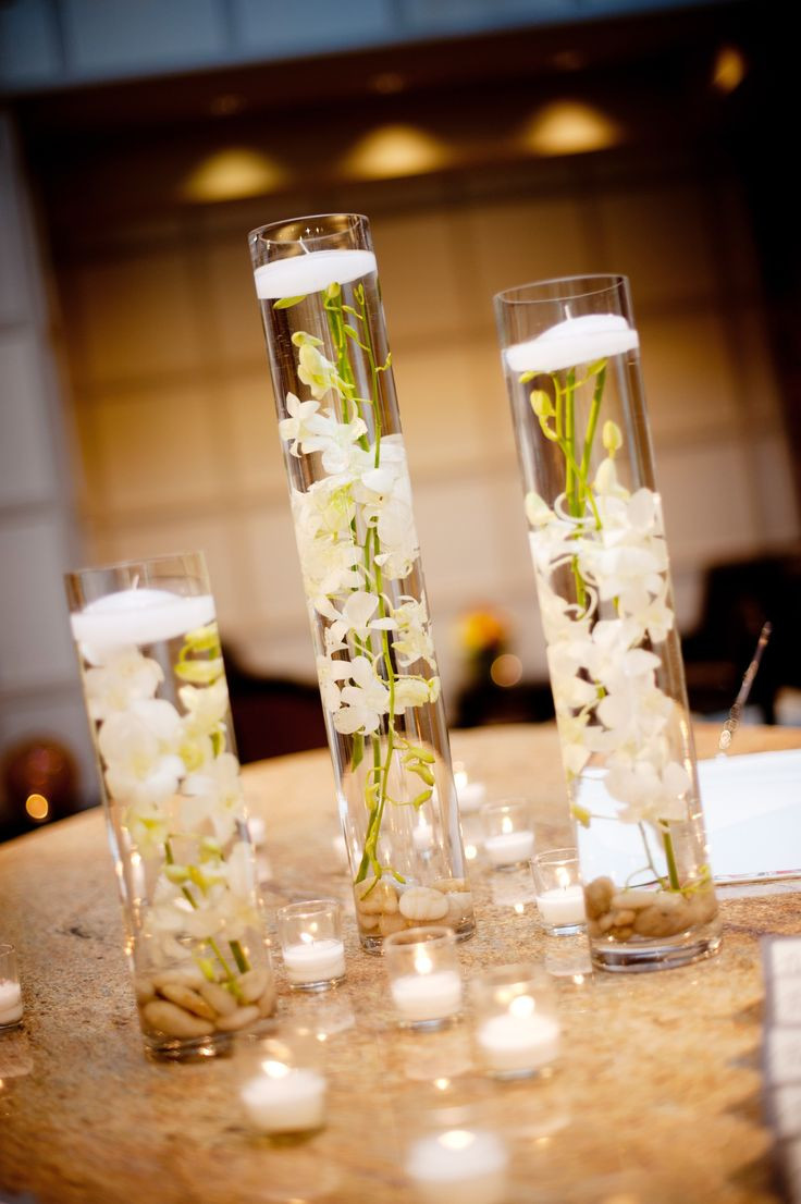 4 feet tall glass vases of 45 best dave ashleys wedding images on pinterest weddings throughout elegant real wedding with simple diy details hurricane vases floating white orchids centerpieces
