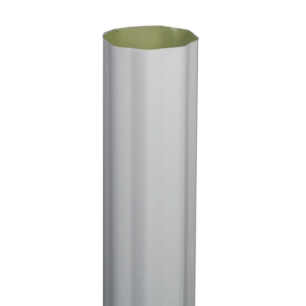 4 feet tall glass vases of amerimax home products 3 in x 10 ft white aluminum plain round regarding 4 in x 10 ft white aluminum round corrugated high gloss