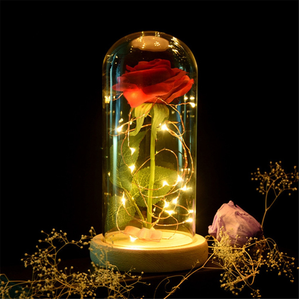 4 feet tall glass vases of glass cover landscape vase dome with tray plant flower terrarium throughout artificial rose flower glass cover set led flashing glowing floral vase glitter luminous creative gift home
