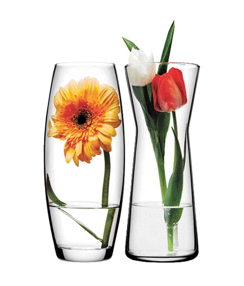 4 ft glass vase of pasabahce glass gardenia flower vase set of 2 buy pasabahce glass in pasabahce glass gardenia flower vase set of 2