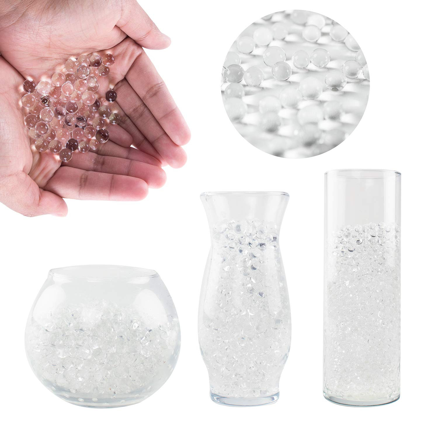 4 glass cube vase of best floating pearls for centerpieces amazon com within super z outlet 1 pound bag of clear water gel beads pearls for vase filler candles wedding centerpiece home decoration plants toys education