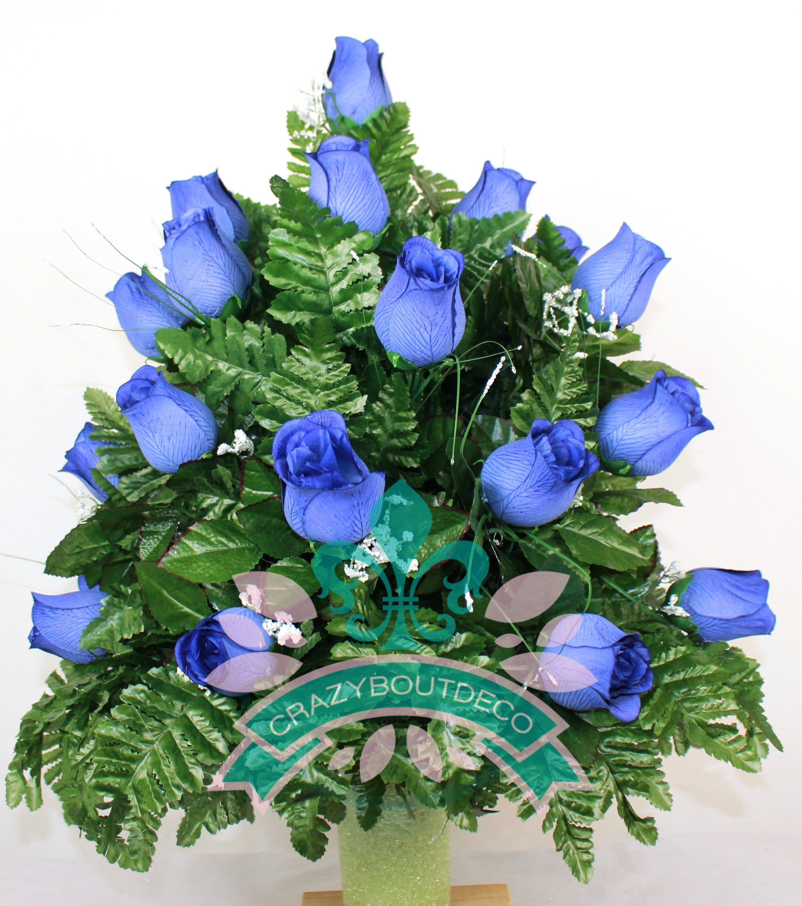 4 inch vase of beautiful xl royal blue roses cemetery vase arrangement for 3 inch regarding beautiful xl royal blue roses cemetery vase arrangement for 3 inch vase by crazyboutdeco on etsy