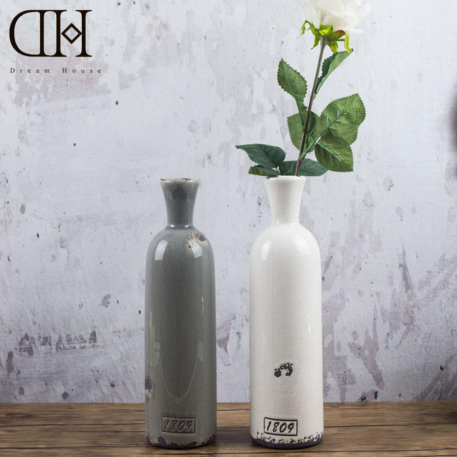 4 x 18 cylinder vase of dh porcelain ceramic table flower vases bottle vintage home for dh porcelain ceramic table flower vases bottle vintage home decoration accessories for home display window wedding decoration glass vases for centerpieces