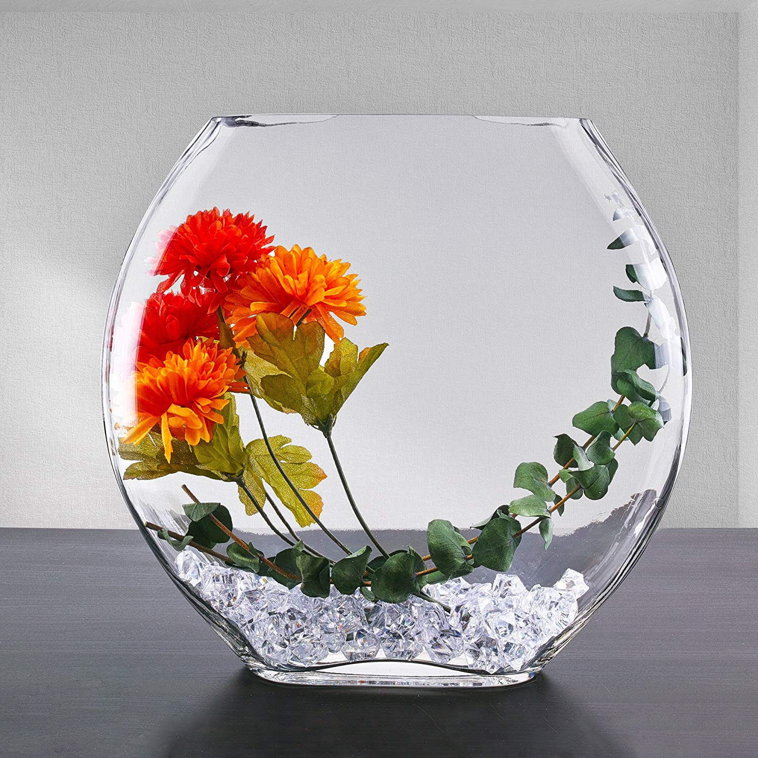 4x4 glass cube vase of amazon com cys excel oval vase moon shape glass vase moon shape with regard to amazon com cys excel oval vase moon shape glass vase moon shape h11 open 7 5 x 3 body d11 5 1 pc home kitchen