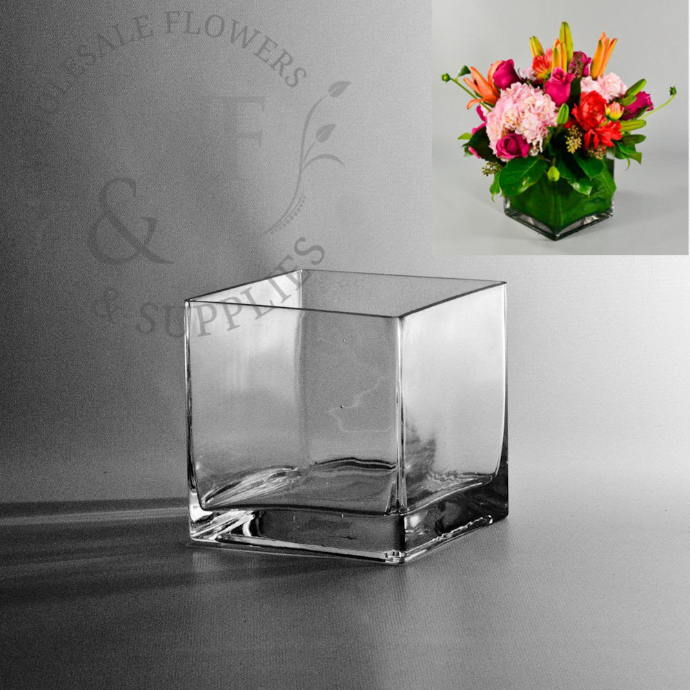 4x4 glass cube vase of square glass cube vase 5x5 wholesale flowers and supplies regarding square glass cube vase 5x5