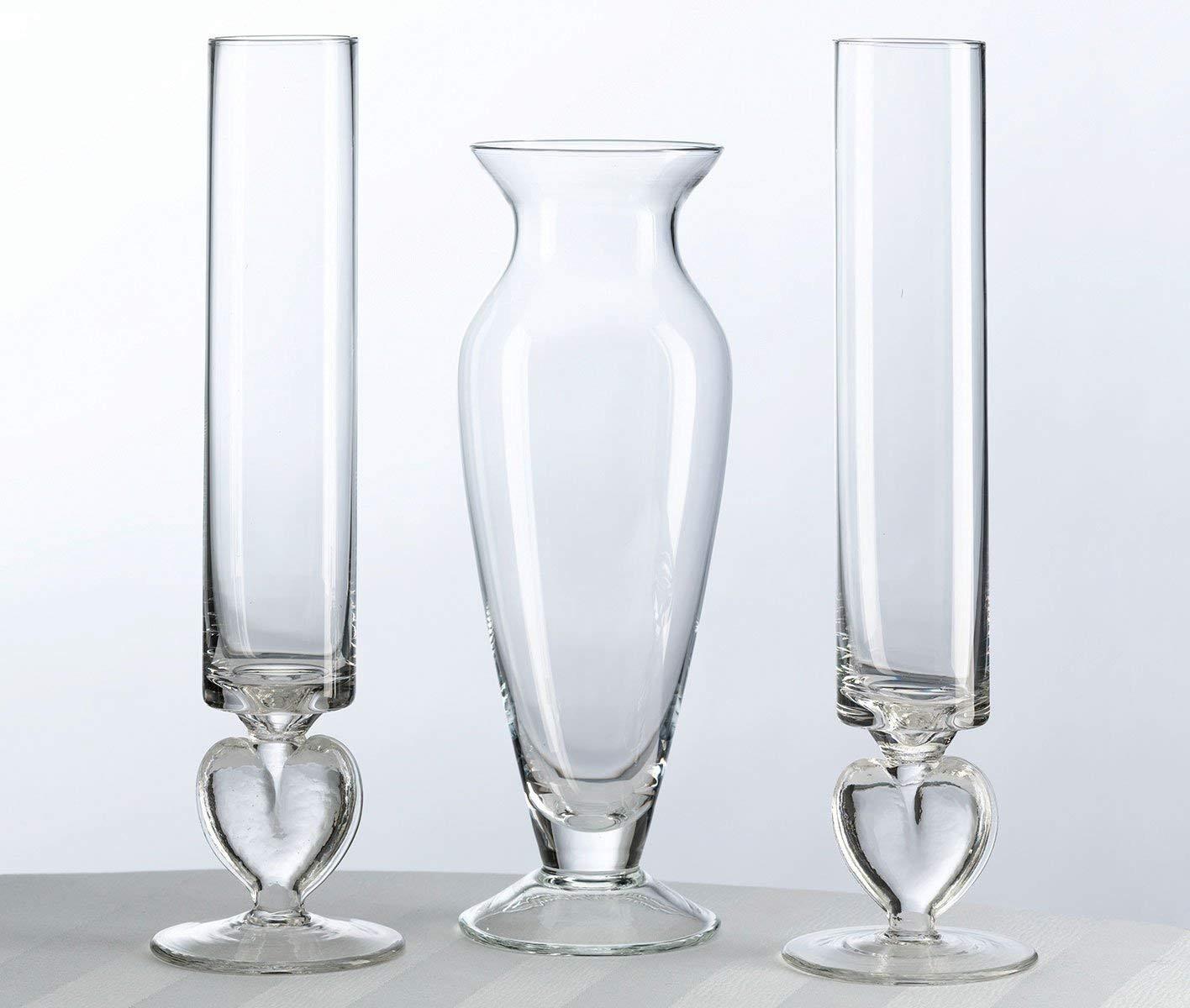 5 clear glass square vases of amazon com lillian rose unity sand ceremony wedding vase set home for amazon com lillian rose unity sand ceremony wedding vase set home kitchen