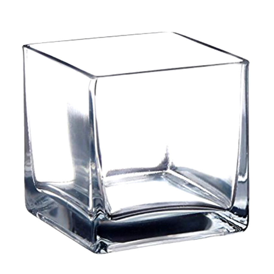 10 Wonderful 5 Clear Glass Square Vases