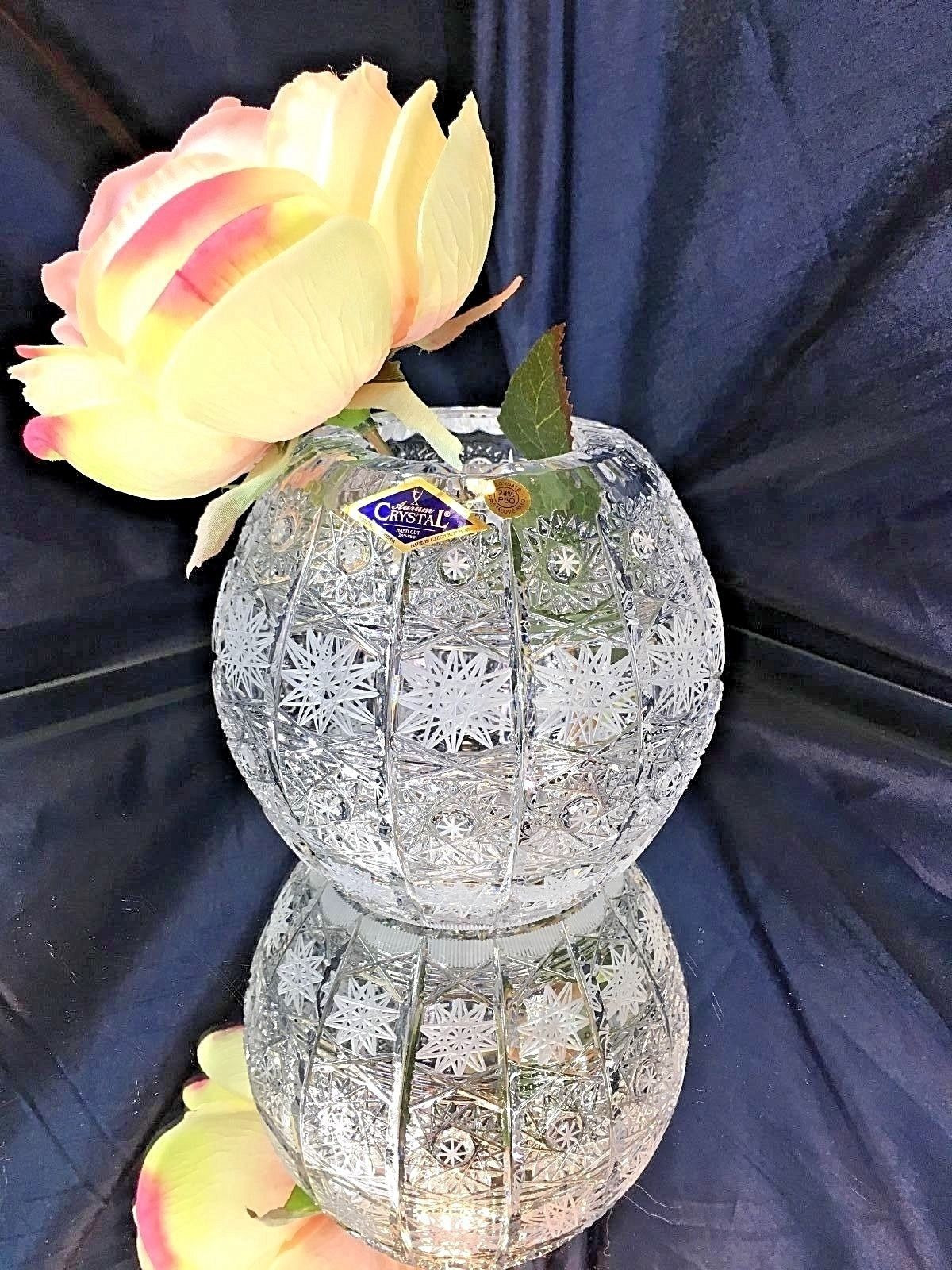 5 inch round glass vase of crystal glass vase european vintage hand cut 5 bohemia aurum pertaining to tosimplyshop crystal glass vase european vintage hand cut 5 bohemia aurum crystal