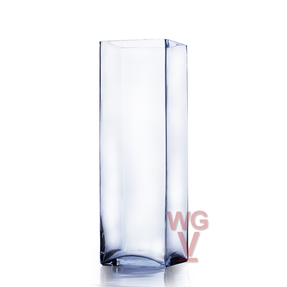 12 Popular 5 Inch Square Glass Vases Bulk