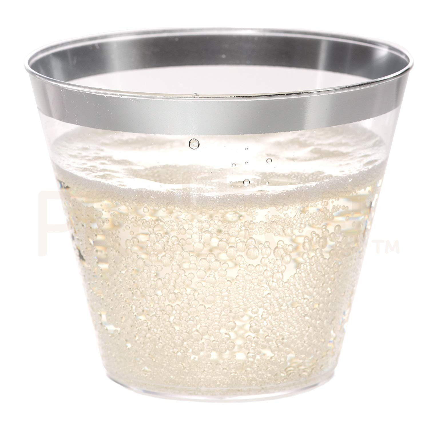 5 inch square glass vases of amazon com silver plastic cups 5 oz 100 pack hard clear in amazon com silver plastic cups 5 oz 100 pack hard clear plastic cups disposable party cups fancy wedding tumblers nice silver rim plastic cups