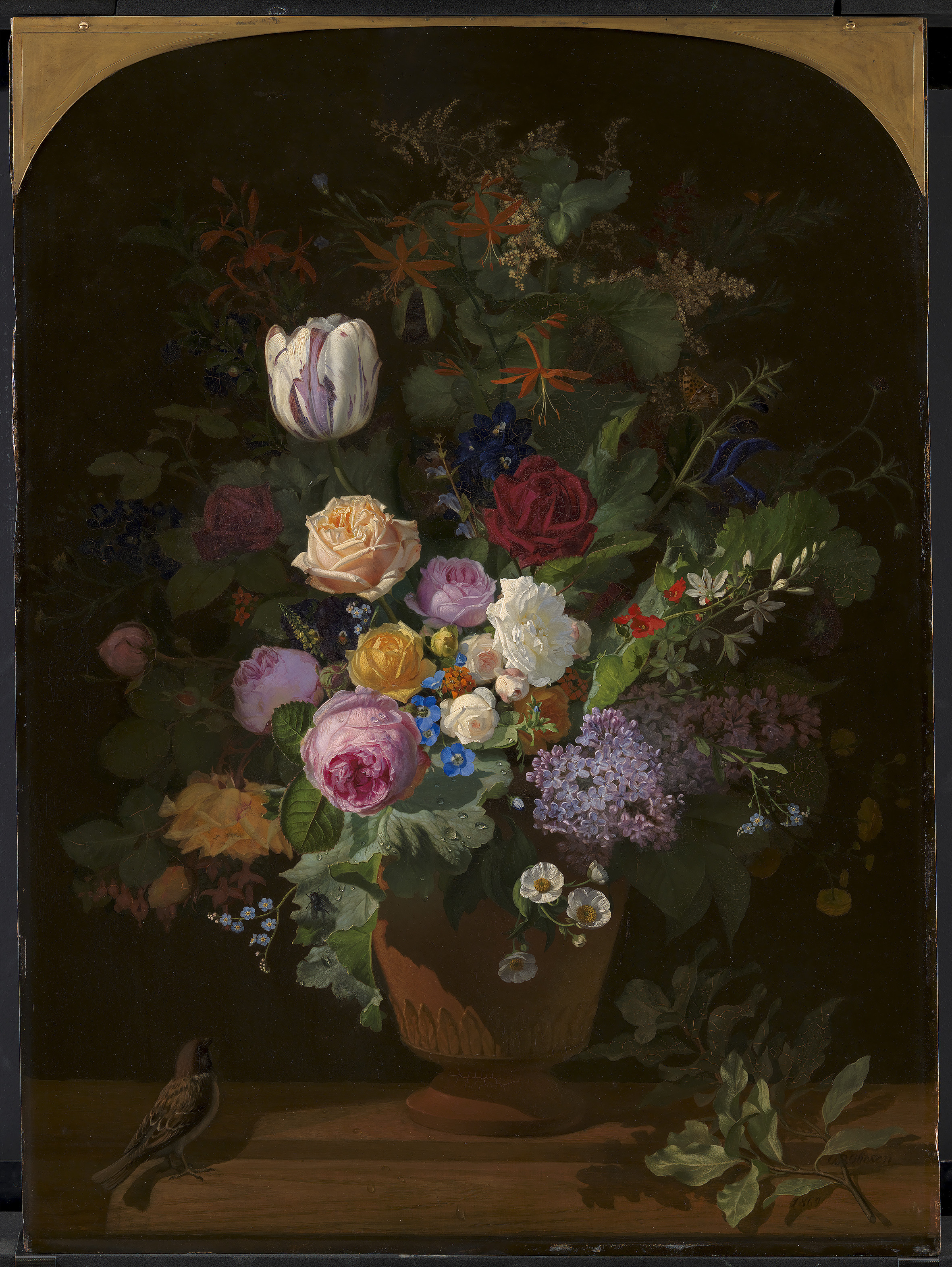 5ft vase of fileo d ottesen flowers in a vase kms865 statens museum for pertaining to fileo d ottesen flowers in a vase kms865 statens museum for kunst