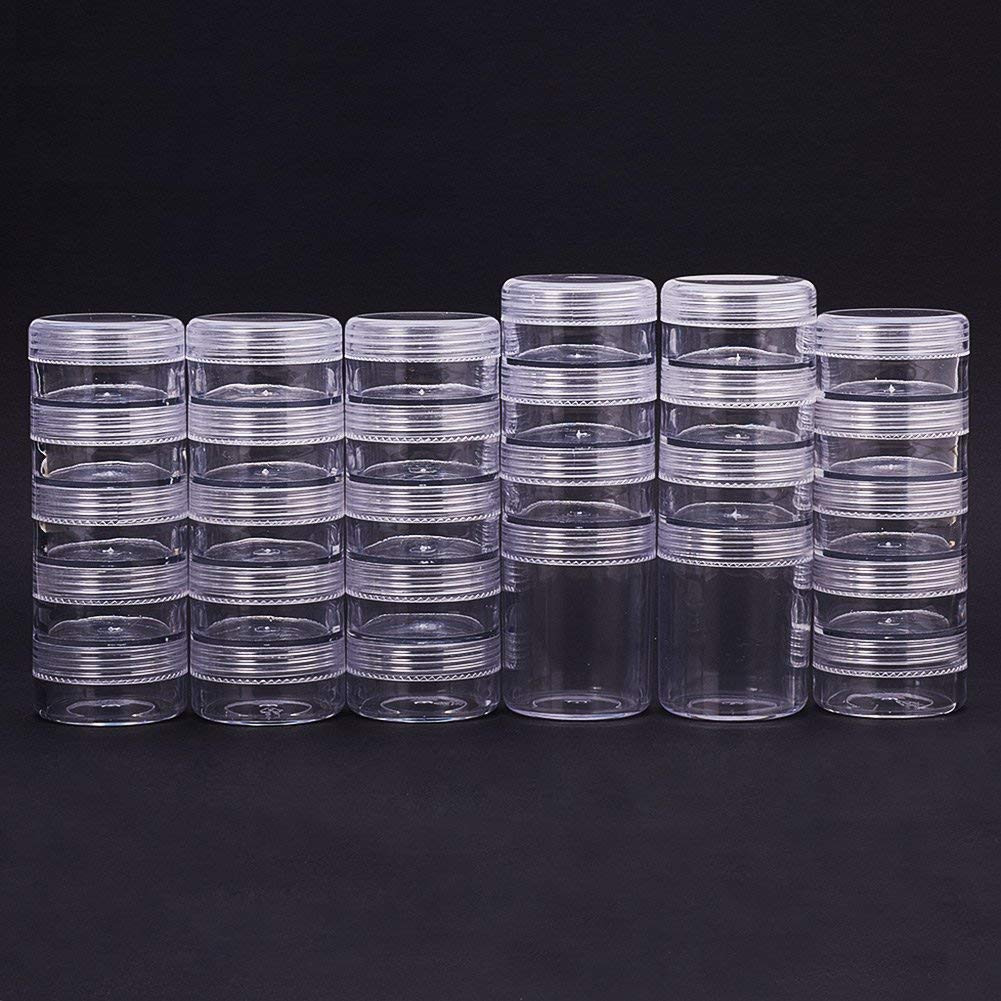 5x5 glass cylinder vase of amazon com pandahall elite 1 sets 6 grids jewelry dividers inside amazon com pandahall elite 1 sets 6 grids jewelry dividers organizer with 28 cylinder stackable bead containers plastic round clear storage box with screw