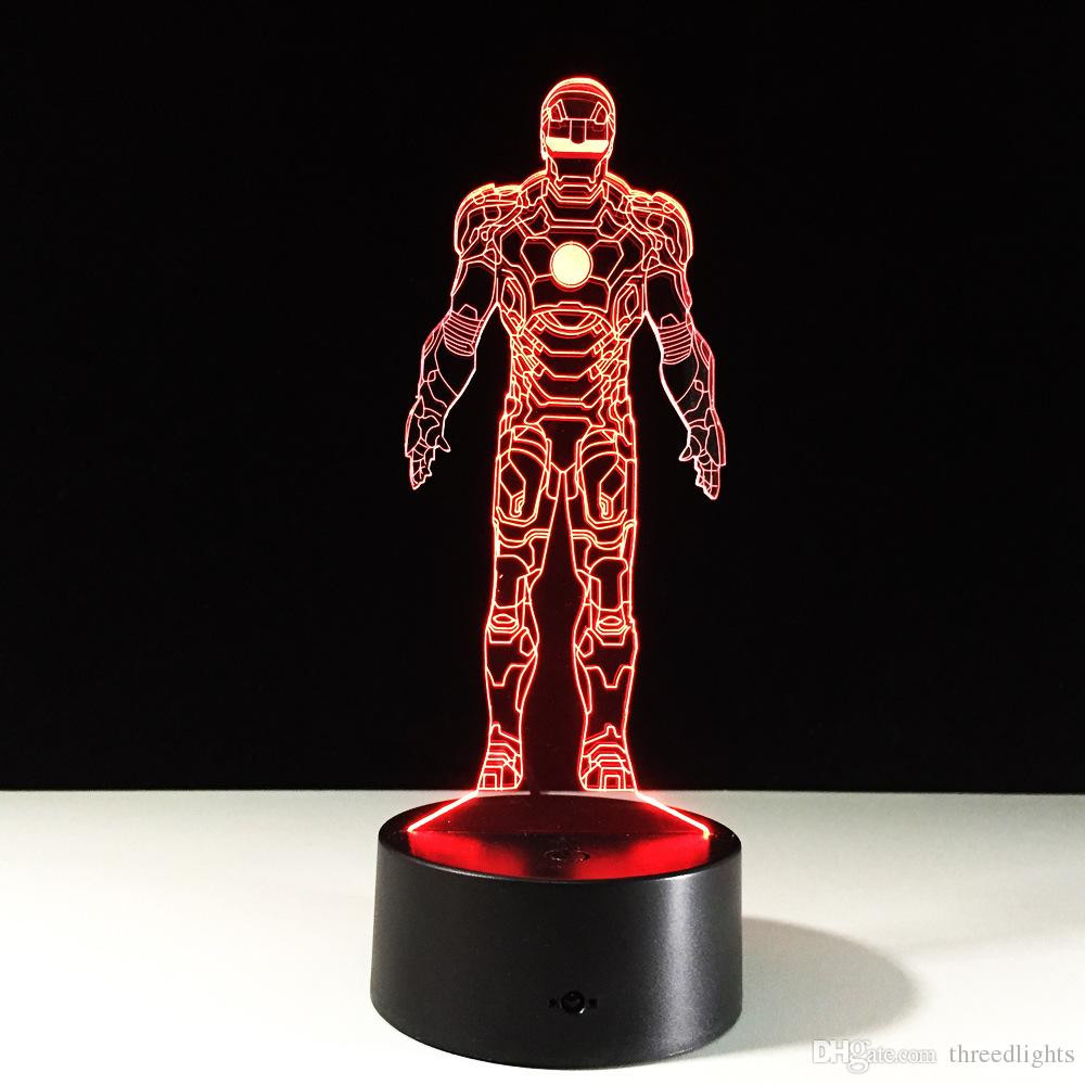 5x5 glass vase of new arrival iron man for children table lighting changing building with new arrival iron man for children table lighting changing building usb optical illusion home decor t