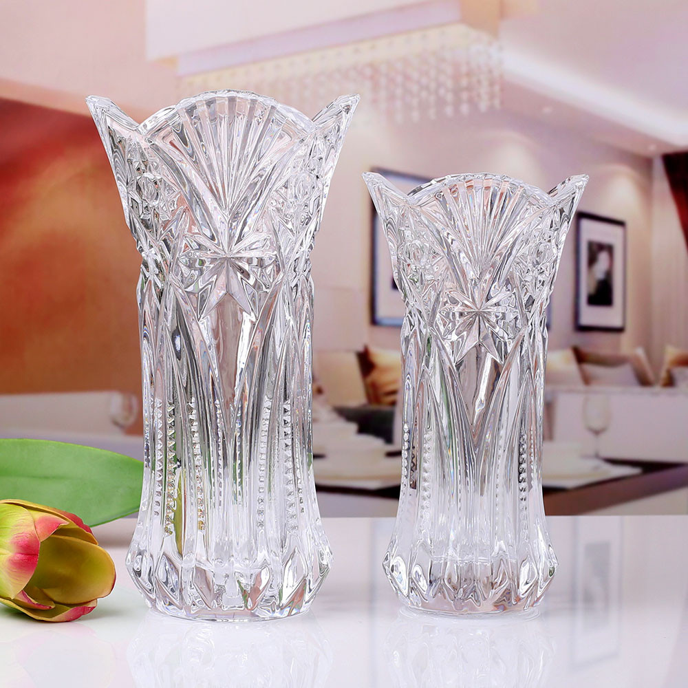 6 glass cube vase of home small vase modern simple glass flower vase thick transparent with little cabbage transparent glass vase fuguizhu hydroponic lily imitation crystal glass simple modern fashion