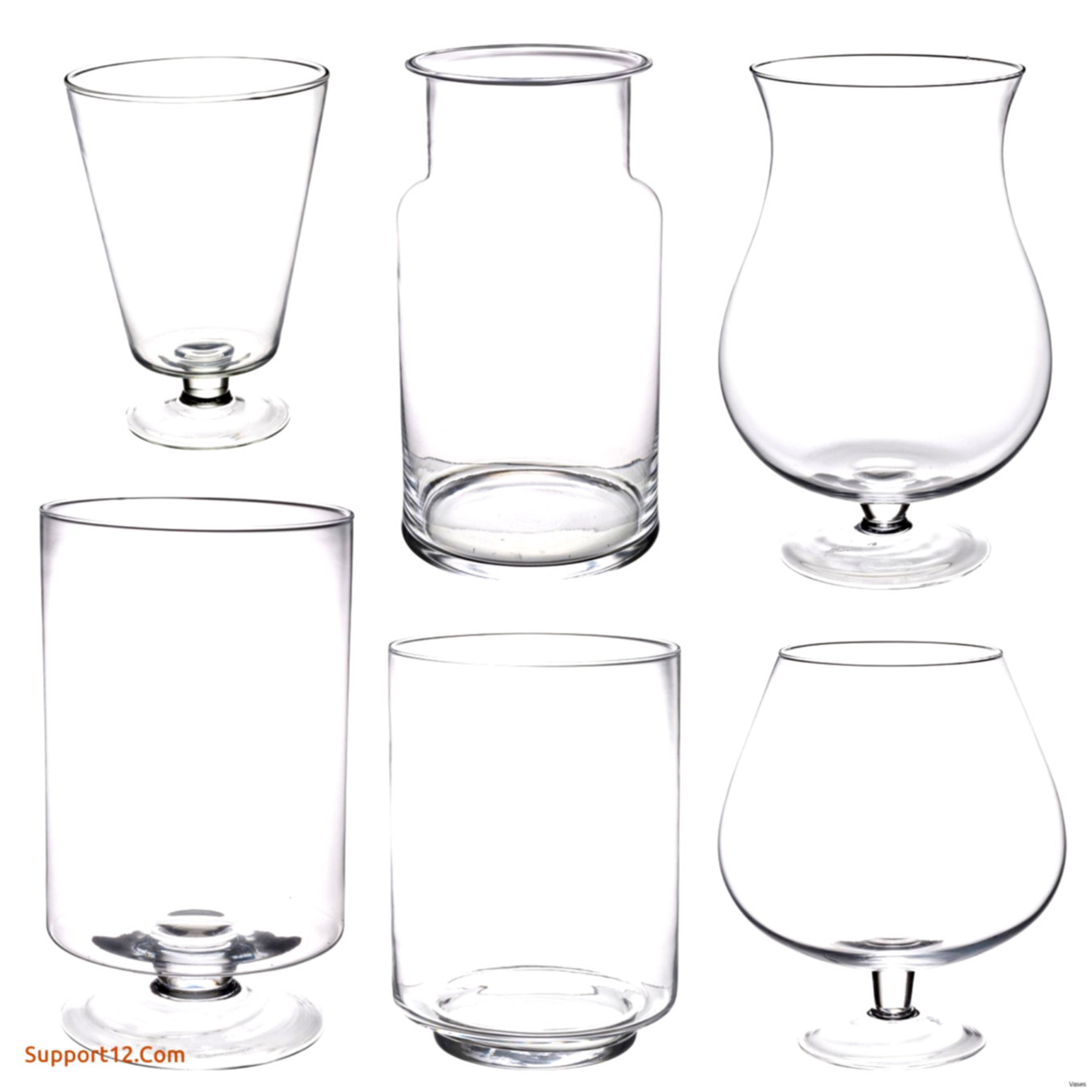 25 Unique 6 Square Glass Vases Bulk