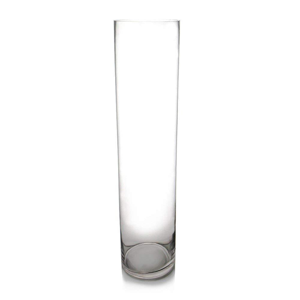 6x6 glass vase of amazon com cys handblown tall glass cylinder vase 1 pack 26 6 in amazon com cys handblown tall glass cylinder vase 1 pack 26 6 home kitchen